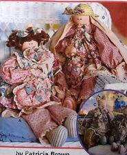 "Stuffed animal bear cat Prairie Rag doll 29"" w/ clothes Pattern Patricia Brown"