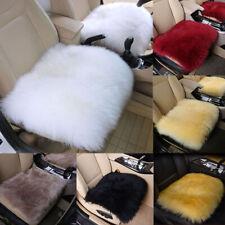 Genuine Long Wool Car Seat Cushion Sheepskin Cover Breathable Warm Chair Cover
