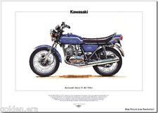 KAWASAKI Mach IV H2 750 - Moto Imprimé Beaux-arts 1969