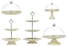Torta Placa Marfil Hierro Transparente Pvc cúpula de cerámica encaje Pastel Placa 2 Y 3 Niveles Nueva
