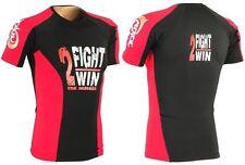 MMA RASH GUARD HALF SLEEVE COMPRESSION LYCRA CRL-RG-01 RED/BLACK - SMALL