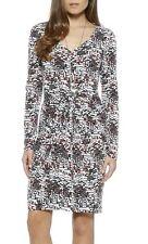 Karen Kane White-Multi Mod Dot Stretch Jersey Twist Front Tiffany Dress - $108