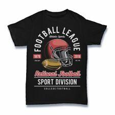 Football League Helmet Tshirt rugby sport american cartoon S-3XL