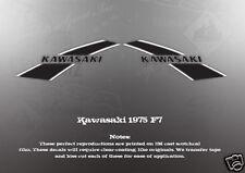 VINTAGE KAWASAKI F7 FUEL TANK DECAL GRAPHICS LIKE NOS