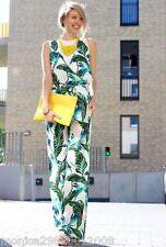 Zara Foglia Floreale Tropicale Top Estate Taglia Media Ref 2573 167
