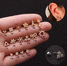 1pc Mini Diamonds Stud Bar Ear Climber Tragus Helix Piercing Post Earring Gift