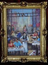 BILDERRAHMEN BILD BLUMEN CAFE CRYSTAL RAHMEN ANTIK BAROCK ROKOKO 90x70  1-2