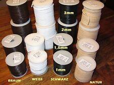 Büffel Lederband 100m 50m 25m Meter Rolle 1 1,5 2 3 mm Lederriemen bunte Farben