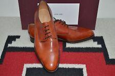 John Lobb Made in England Ashton Burnished Leather Dress Blucher Shoes