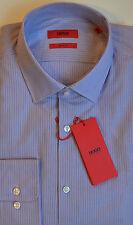 NWT HUGO Red Label By Hugo Boss Sharp Fit Long Sleeve Striped Dress Shirt