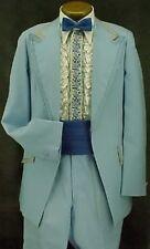 Bright Light Blue Retro After 6 Tuxedo Jacket Vintage Mens Weddings Prom Party