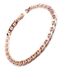 Bracelet CHAINE Gourmette Marine or rosé doublé ou plaqué femme homme d'Italie