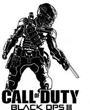 Call of Duty Black Ops 3 estilo ps4 Xbox Teen Vinilo de Pared Arte Calcomanía Adhesivo