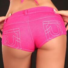 SEXY HOTPANTS JEANS-LOOK MIT ZIPPER GOGO CLUB PINK #H252