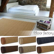 Sisal Teppich aus 100% Naturfaser mit Leinenbordüre und Filzrücken