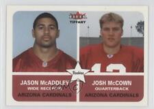 2002 Fleer Tradition Tiffany #287 Jason McAddley Josh McCown Arizona Cardinals