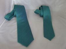 """<NEW>Mens Teal Green Neckties > Classic Tie > 3.3"""" Width OR Skinny Tie> 2"""" Width"""