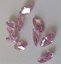 2 pcs 7x3.5 mm Marquise Pink Russian Lab CZ AAAAA