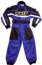 Kids Wulfsport Quad, Karting + Childrens Wulf  MX  Racing Overalls Plain Blue T