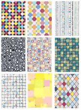 12 Bogen DESIGN-PAPIERE sortenrein FORMEN DIN A4 Papier Scrapbooking Sets 2080