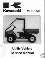 KAWASAKI MULE 500 ATV UTILITY VEHICLE SERVICE MANUAL