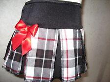tartan Alternative Skirt Black white red check Festival Gothic retro School