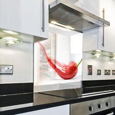 KÜCHENRÜCKWAND Spritzschutz Küche Gehärtetes Glas Chili-Pfeffer würzig rot