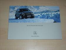 39201) Mercedes M-Klasse Prospekt 2001