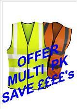 Hi Vis Executive Zip vest jacket Safety Wear Bikers OFFER PK 10 VESTS
