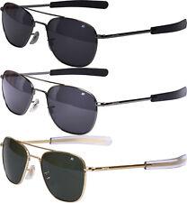 AO Eyewear Polarized 52MM US Air Force Pilots Sunglasses Aviators with Case