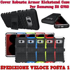 CUSTODIA COVER CASE ROBUSTA ARMOR KICKSTAND PER SAMSUNG S8 (G950) CON SUPPORTO