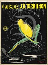 PLAQUE ALU DECO CHAUSSURES J.B TORRILHON GRENOUILLE PUBLICITE CLERMONT FERRAND