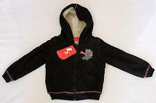 PUMA Teddy Hooded Sweat Jacket black kid felpa bambina nera cod. 55250001 _