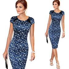 UK Womens Bodycon Short Sleeve Dress Ladies Party Evening Mini Dress Size 6 - 18