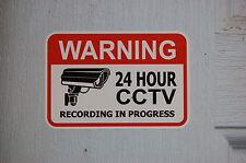 VIDEO SURVEILLANCE home office warehouse security warning CCTV window door