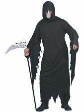 Spirito /& ANIME ROBE BLACK GHOST Uomo Lungo Vestito Halloween Costume