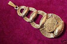 Pendant Buddha Antique Gold color 13x18 mm Horizontal Bezel (pk 3) 0395