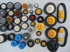 LEGO, Wheels, Caterpillar Tracks, Pullback TECHNIC, CITY, Various Sizes, Bundle.
