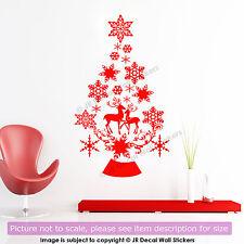 Christmas Tree Vinyl Wall Art Sticker Snowflake Reindeer Decal Xmas decorations