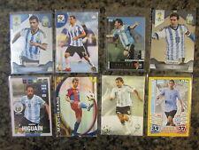 ARGENTINA SOCCER CARDS WORLD CUP, PANINI, MESSI, AGUERO,TEVEZ, HIGUAIN,ETC