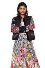 Desigual Black / Floral Light Zip Up Ada Jacket 36-46 UK 8-18 RRP £139
