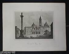 ROMA:Basil.S. M. MAGGIORE.Acquaforte - G.COTTAFAVI.1843
