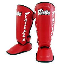 Fairtex Twister Shin Guards SP7 Muay Thai Boxing MMA Detachable In Step Shin Pad