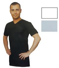 REGENT. Maglietta intima T-shirt - 48, Uomo manica corta, Scollo V, Cotone.