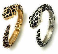 Ladies Snake Black Gold Silver Metal Bangle Cuff Fashion Watch Versales VB10