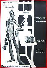 Lorenzo Homar 1960 Cartel 10 Anos De Marichal Poster Museo UPR Puerto Rico