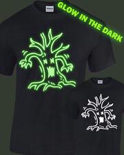 Spooky Tree Glow in the Dark T-Shirt Mens Womens glowing halloween costume