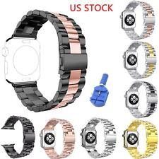 3-Bead Steel Metal Strap For Apple Watch Series 1 2 3 4 Band Tool 44/42/40/38 US