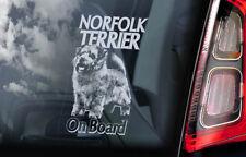 Norfolk Terrier on Board - Car Window Sticker - Dog Sign Decal Gift Art - V01