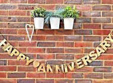 Wedding Anniversary Golden Silver Diamond Ruby Wedding banner Bunting